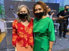 Vereadora Lourdes Sprenger e a presidente do CRCRS, Ana Tércia Rodrigues.