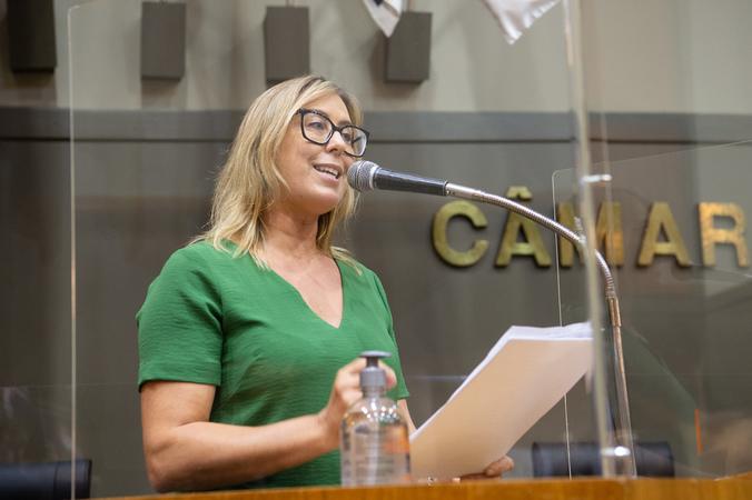 Sessão ordinária - Vereadora Fernanda Barth (Foto: Ederson Nunes/CMPA)