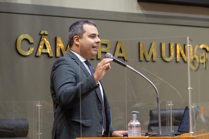 Sessão ordinária - Vereador Pablo Melo (Foto: Ederson Nunes/CMPA)