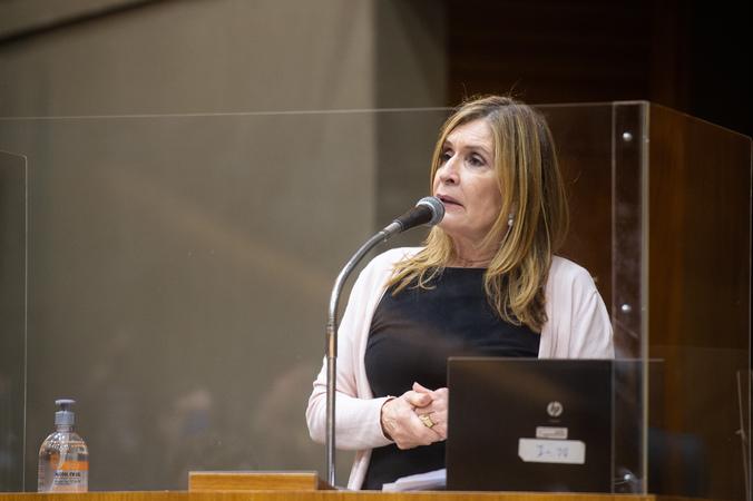 Sessão ordinária - Vereadora Mônica Leal (Foto: Ederson Nunes/CMPA)