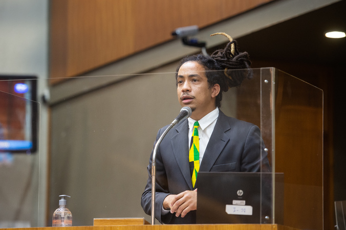 Sessão ordinária - Vereador Matheus Gomes (Foto: Ederson Nunes/CMPA)