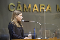 Posse da vereadora suplente  Camila Nunes.