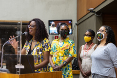 Posse de vereadoras suplentes: Coletivo Cuca Congo.