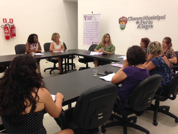 Reunião da Rede de Educação pelos Direitos das Mulheres e das Meninas, atividade do Fórum Social Mundial na Câmara.