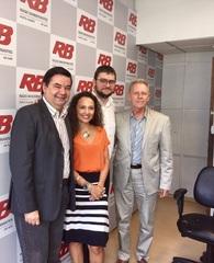 Vereador Professor Wambert Di Lorenzo,  Karim Miskulin, Guilherme Baumhardt, e João Pedro Lamana Paiva.