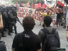 Manifestação contra o aumento da passagem de ônibus (foto: Stela Pastore)