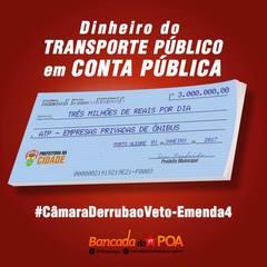 Campanha #CâmaraDerrubaoVeto-Emenda4 da Bancada do PTAlegre
