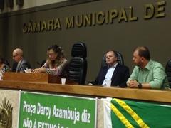 Goulart acompanha manifestações na Frente Parlamentar em Defesa do Esporte, Lazer e Recreação.