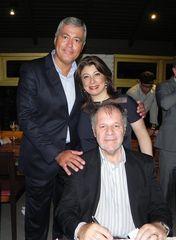 Dr. Goulart e sua esposa, com o presidente do Condecon.