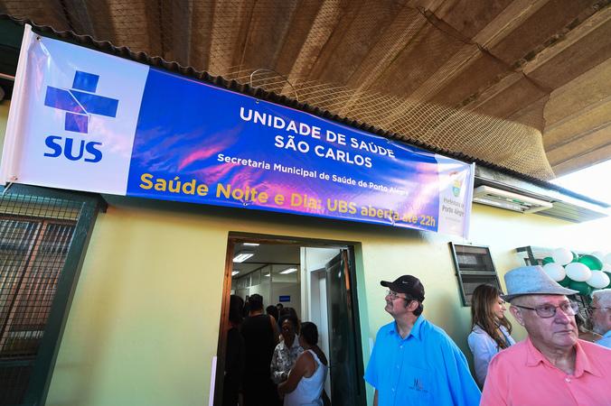 Presidente Cassio Trogildo participa da solenidade de entrega do primeiro posto de saúde com horário estendido a funcionar na Capital, a UBS São Carlos.