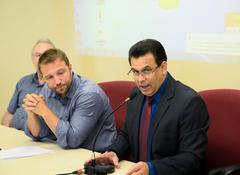 Primeira Reunião da Frente Parlamentar do Idoso. Na foto, em destaque, o vereador Alvoni Medina.