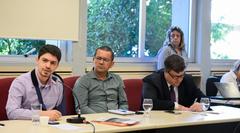 Primeira Reunião da Frente Parlamentar do Idoso. Na foto, o vereador Matheus Ayres (E).
