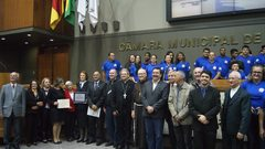 Sessão Solene aconteceu na Câmara Municipal.